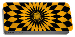 Portable Battery Charger featuring the digital art Orange Energy by Lucia Sirna