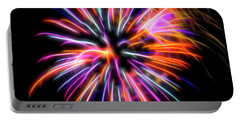 Portable Battery Charger featuring the photograph Orange Fireworks by Yulia Kazansky