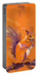 Orange Forest Squirrel Portable Battery Charger
