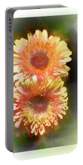 Orange Gebera Daisies Portable Battery Charger