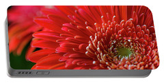 Portable Battery Charger featuring the photograph Orange Gerbera by Clare Bambers
