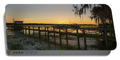 Florida - St Johns River Sunset Portable Battery Charger by John Black