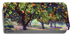 Orange Grove Of Citrus Fruit Trees Portable Battery Charger