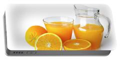 Orange Juice Portable Battery Charger