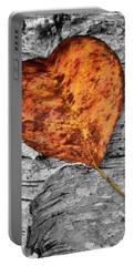 Orange Leaf Portable Battery Charger