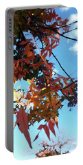 Orange Leaves Blue Sky Portable Battery Charger