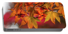 Portable Battery Charger featuring the photograph Orange Maple Leaves by Clare Bambers