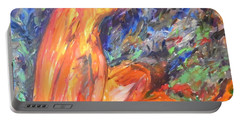 Portable Battery Charger featuring the painting Orange Nymph by Esther Newman-Cohen