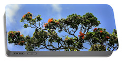 Portable Battery Charger featuring the photograph Orange Lehua On A Ranch In Volcano, Hawaii  by Lehua Pekelo-Stearns
