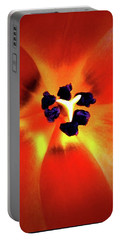 Orange Orchid Portable Battery Charger
