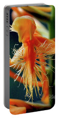 Fringed Orange Orchid Portable Battery Charger by Meta Gatschenberger