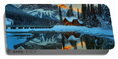 Orange Peaks Over Cilantro Portable Battery Charger