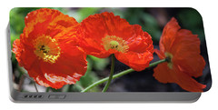 Orange Poppy Triplet Portable Battery Charger