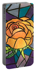 Orange Rose  Portable Battery Charger