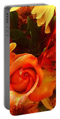 Orange Rose Flowers Everyday  Portable Battery Charger
