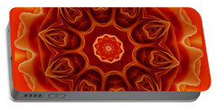 Orange Rose Mandala Portable Battery Charger