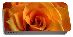 Orange Rose Portable Battery Charger by Tony Grider
