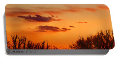Orange Sky At Night Portable Battery Charger