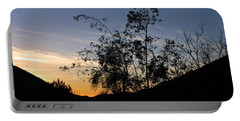 Orange Sky Nature Silhouette Portable Battery Charger