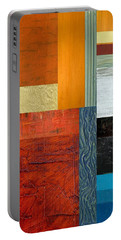 Orange Study With Compliments 1.0 Portable Battery Charger by Michelle Calkins