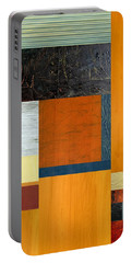 Orange Study With Compliments 2.0 Portable Battery Charger by Michelle Calkins