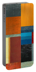 Orange Study With Compliments 3.0 Portable Battery Charger by Michelle Calkins