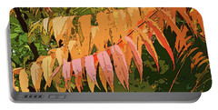 Portable Battery Charger featuring the photograph Orange Sumac by Betsy Zimmerli