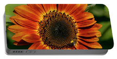 Orange Sunflower Portable Battery Charger