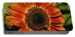 Orange Sunflower Portable Battery Charger