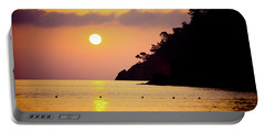 Orange Sunrise Above Sea Portable Battery Charger