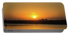 Orange Sunrise Portable Battery Charger by Nance Larson