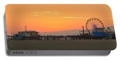 Orange Sunset - Panorama Portable Battery Charger