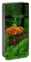 Portable Battery Charger featuring the photograph Orange Tiger Lily by Tikvah's Hope