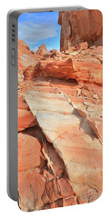 Orange Valley In Valley Of Fire Portable Battery Charger