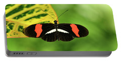 Orange, White And Black Butterfly  Portable Battery Charger