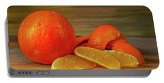 Oranges 01 Portable Battery Charger by Wally Hampton