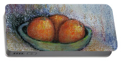 Oranges In Celadon Bowl Portable Battery Charger