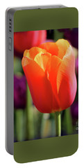 Orange Tulip Square Portable Battery Charger