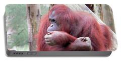 Orangutang Contemplating Portable Battery Charger by Rosalie Scanlon