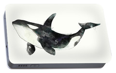 Orca From Arctic And Antarctic Chart Portable Battery Charger by Amy Hamilton