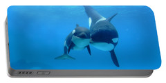 Orca Orcinus Orca Mother And Newborn Portable Battery Charger
