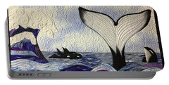 Orcas At Play Portable Battery Charger