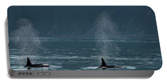 Orcas In Resurrection Bay Portable Battery Charger