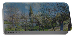 Orchard In Spring Portable Battery Charger