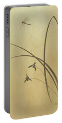 Orchid And Dragonfly Portable Battery Charger