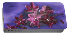 Orchid Blossoms On A Stem Portable Battery Charger