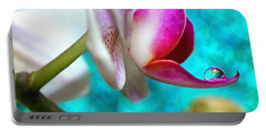 Orchid Delicacy Portable Battery Charger by Krissy Katsimbras