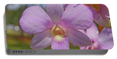 Orchid Flower Portable Battery Charger
