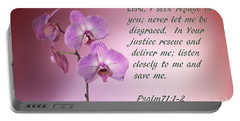 Orchid In The Pink Psalms 71 Portable Battery Charger by Linda Phelps