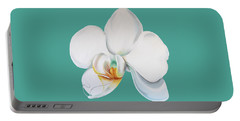 Orchid On Green Portable Battery Charger